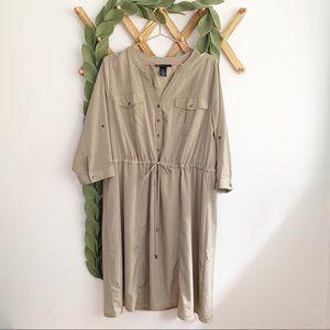 Lane Bryant Tan Shirt Dress 18/20
